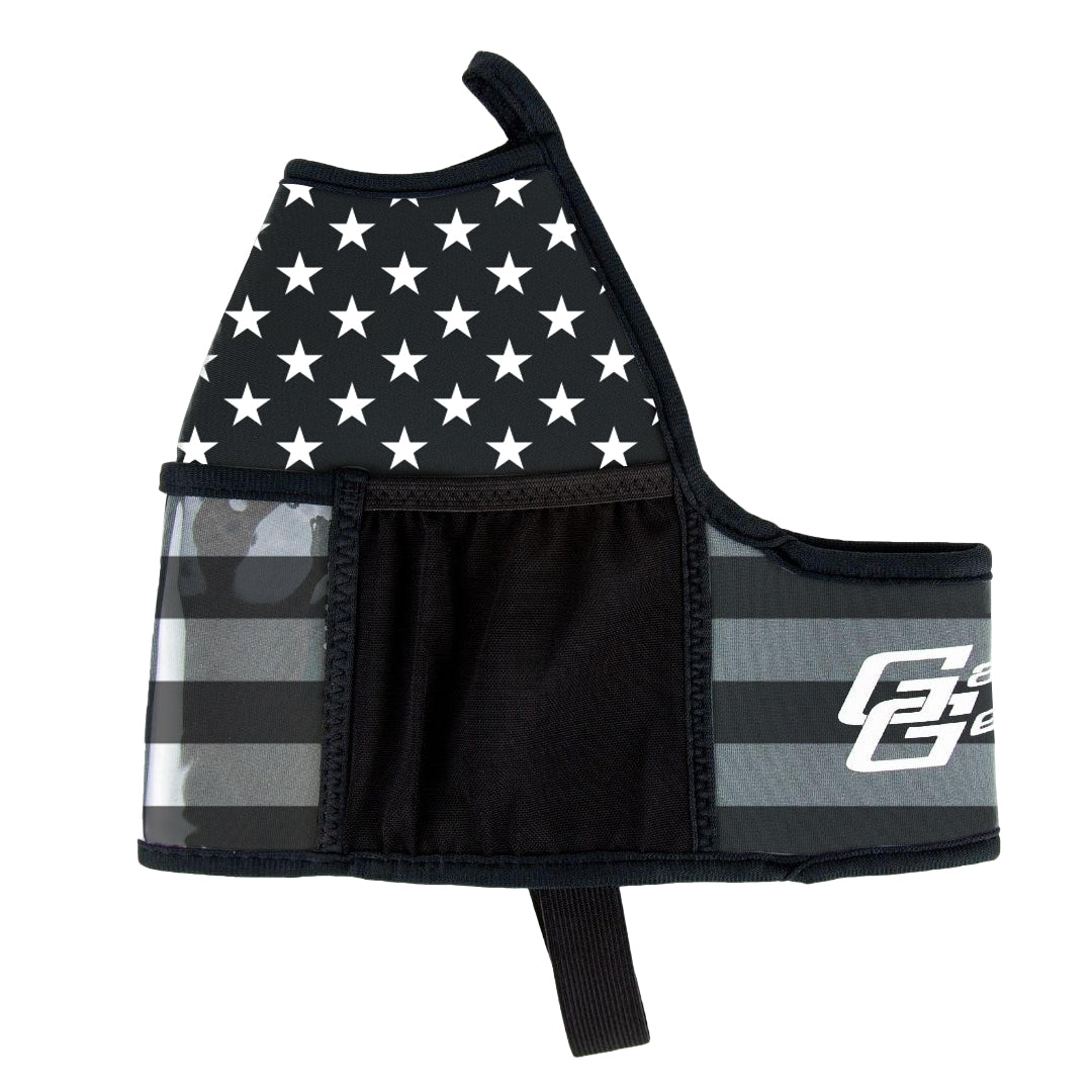 American Black and Grey Flag Double Pocket
