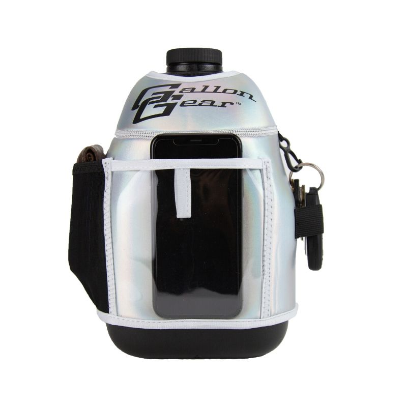 Silver Holographic Gallon Gear Fitness Hydration Cover