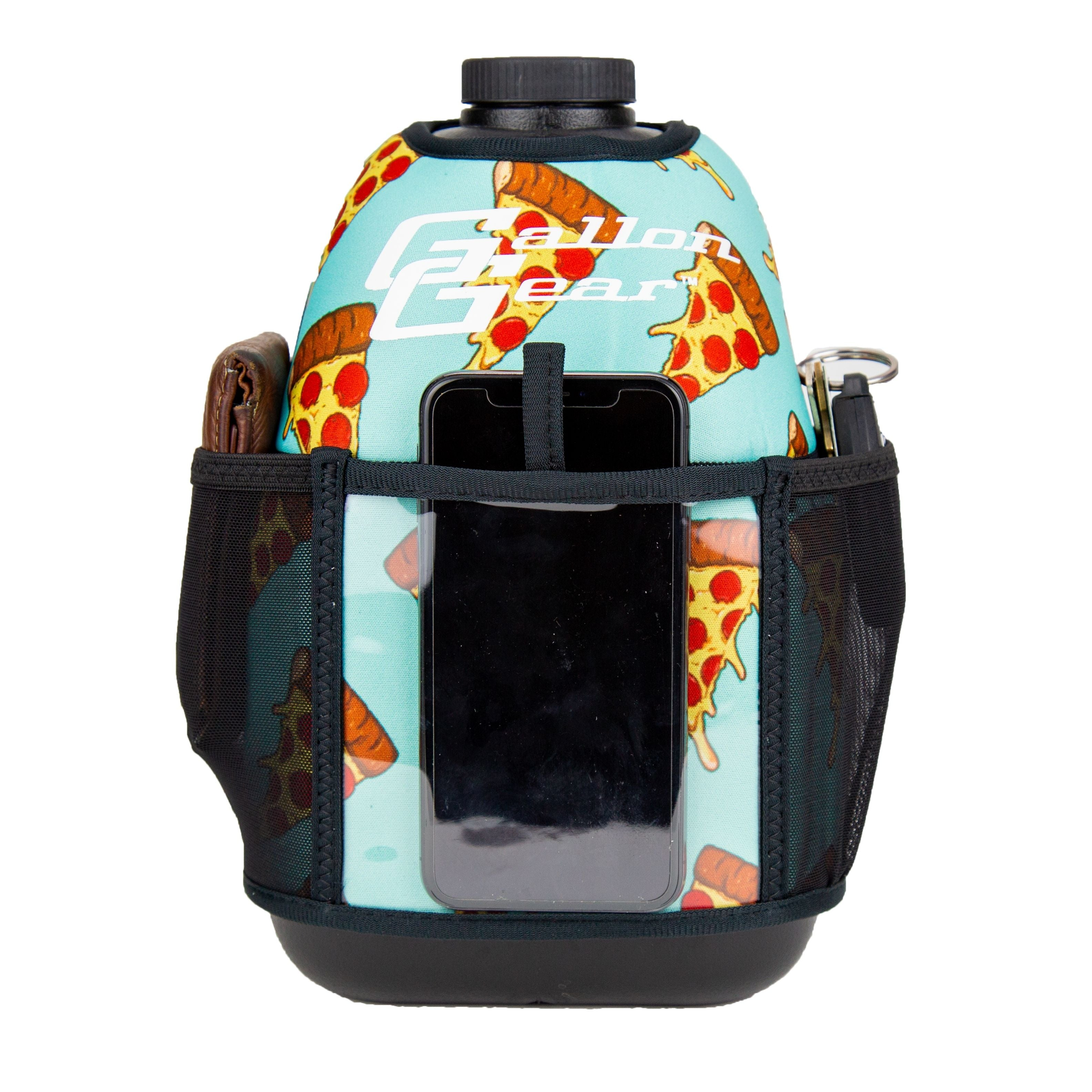 Pizza Double Pocket Gallon Gear Fitness Hydration Cover