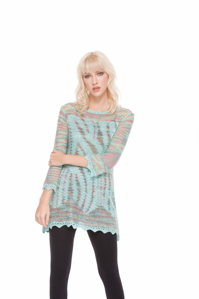 Teal Multi Knit Sweater