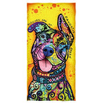 Rescues Are My Favorite Breed Cotton Beach Dog Towel - Monday Monday