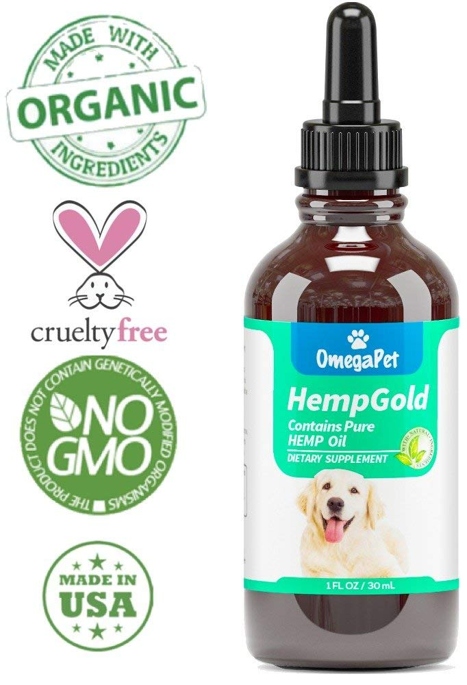 Hemp Oil for Dogs and Cats - Organic Dog Hemp Oil for Anxiety Relief, Calming and Joint Health - Easily Apply to Treats - Grown in USA - Monday Monday
