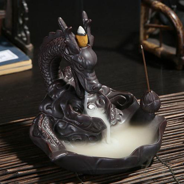Ceramic Dragon Incense Burner - Monday Monday
