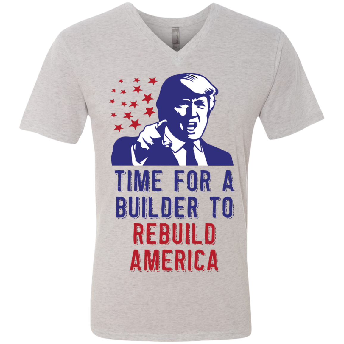 Rebuild America - Men's Triblend V-Neck Tee - Monday Monday
