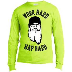 Work Hard Nap Hard - Long Sleeve T-Shirt - Monday Monday