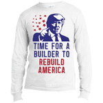 Rebuild America - Long Sleeve T-Shirt - Monday Monday
