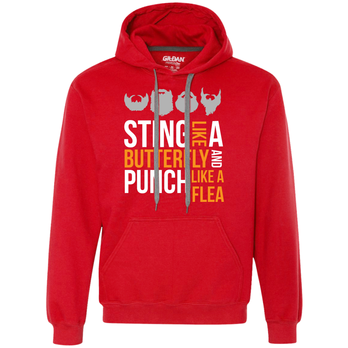 Sting Like A Butterfly Gray - Pullover Fleece Sweatshirt - Monday Monday