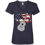 American Guitar - Ladies' V-Neck Tee - Monday Monday