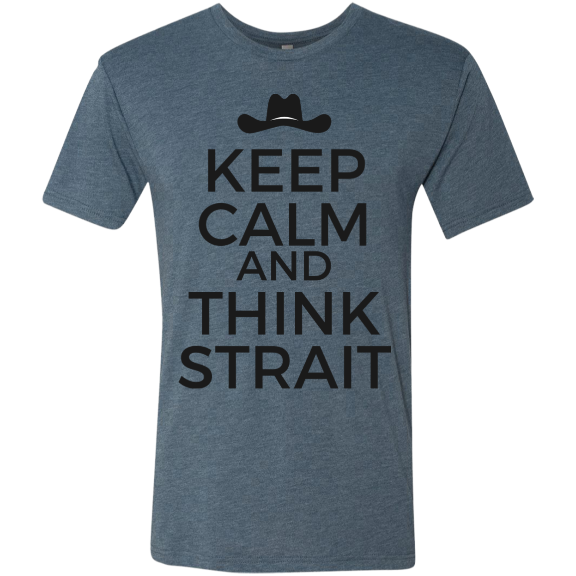 Think Strait - Men's Tri-Blend Tee - Monday Monday