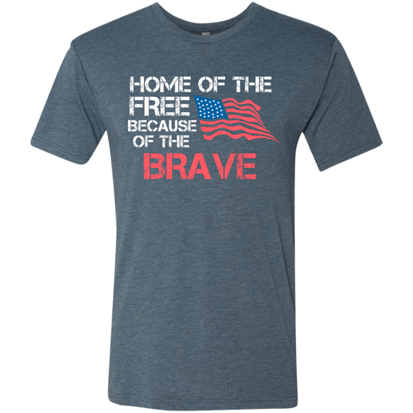 Home of The Free - Men's Tri-Blend Tee - Monday Monday