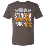 Sting Like A Butterfly Gray - Men's Tri-Blend Tee - Monday Monday
