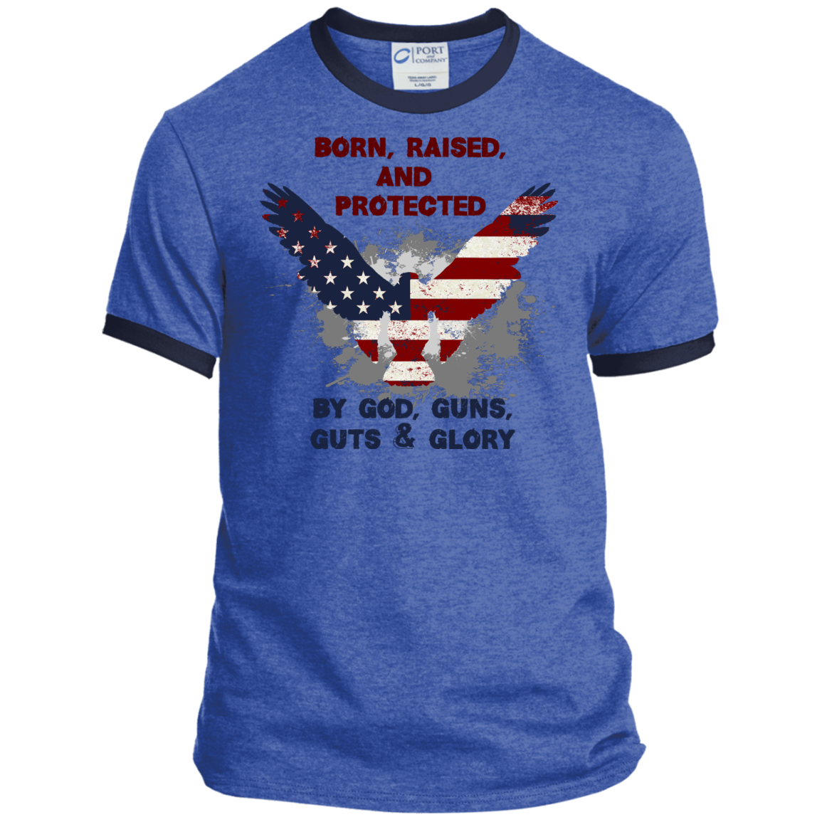 Born, Raised & Protected - Ringer Tee - Monday Monday
