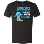 Country Music Is Good For The Soul - Men's Tri-Blend Tee - Monday Monday