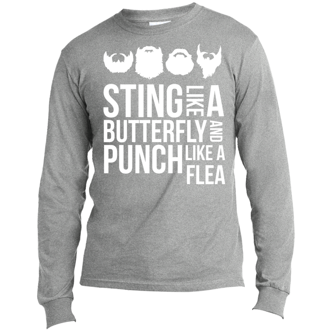 Sting Like A Butterfly White - Long Sleeve T-Shirt - Monday Monday