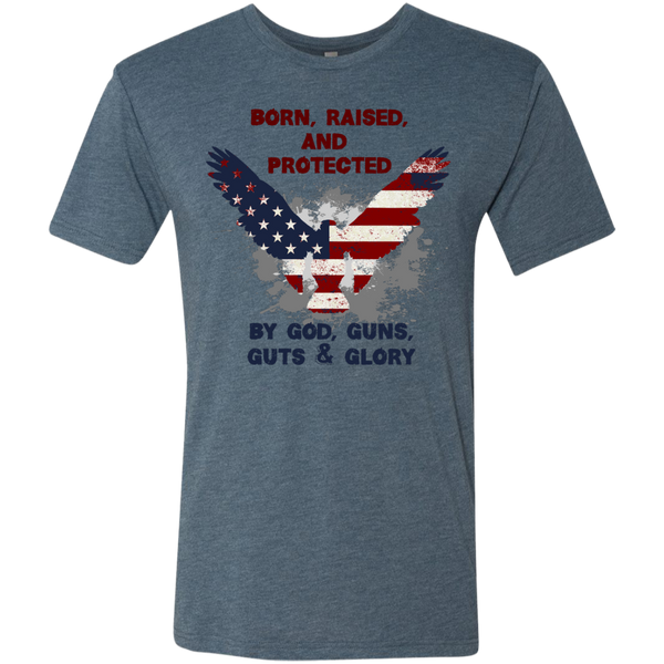 Born, Raised & Protected - Men's Tri-Blend Tee - Monday Monday