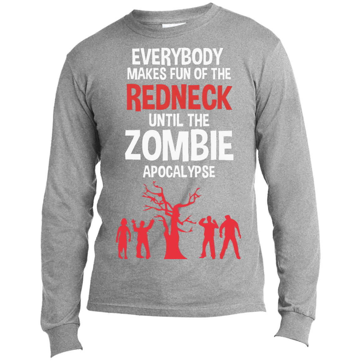 Redneck White - Long Sleeve T-Shirt - Monday Monday