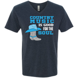 Country Music Is Good For The Soul - Men's Triblend V-Neck Tee