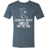 Country Good For Soul White - Men's Tri-Blend Tee