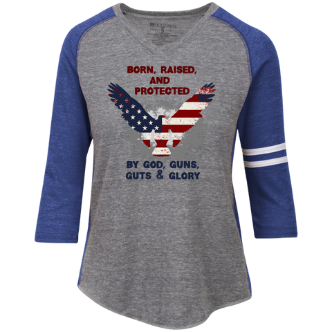 Born, Raised & Protected - Ladies' Vintage V-neck Shirt