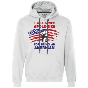 Never Apologize American - Fleece Sweatshirt - Monday Monday