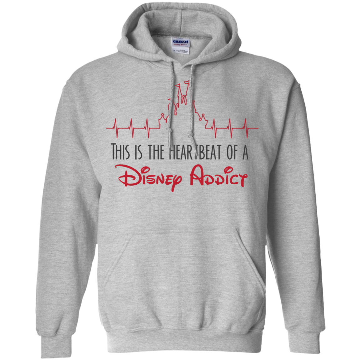 Heartbeat - Pullover Hoodie 8 oz - Monday Monday
