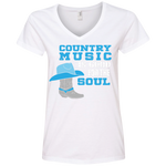 Country Music Is Good For The Soul - Ladies' V-Neck Tee - Monday Monday