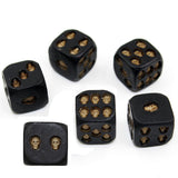 Black Resin Skull Dice