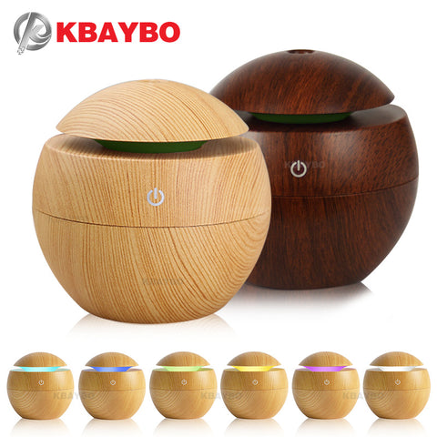 Wooden  Globe Oil Difuser