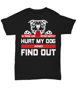 Is There Life After Death? Pit Bull Tee - Monday Monday