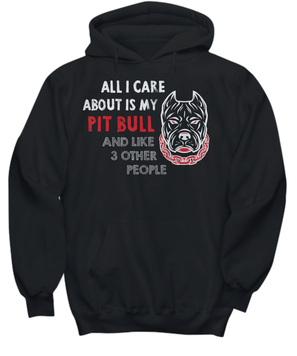 All I Care About is My Pit Bull Black Tee - Monday Monday