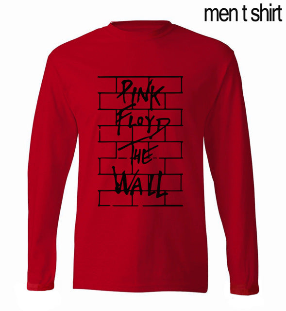 Pink Floyd Rock Band men's long sleeve T-shirt 2017 spring new 100% cotton t shirt hip hop brand clothing for fans hipster men - Monday Monday