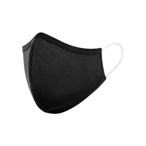 Reusable Adult 3-Ply Black Face Mask Single-Pack, Black