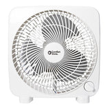 "9"" 2-Speed Portable Box Fan, White"