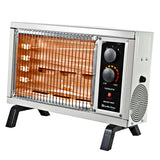 Electric Radiant Space Heater w/Adjustable Thermostat, Ivory