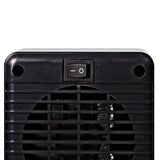 "7"" Fan Forced Personal Ceramic Heater, Black"