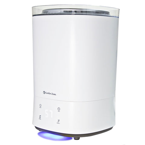 Indoor 5.5L Top Fill Ultrasonic Mister Humidifier, White