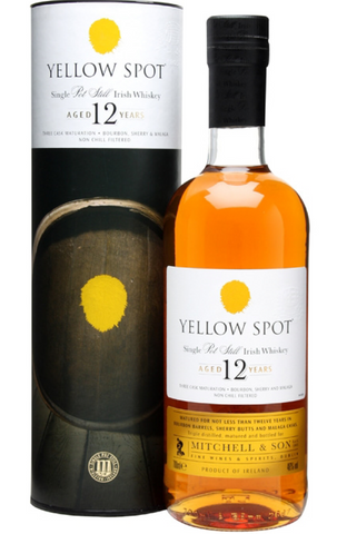 Yellow Spot 12 Year Old Single Pot Still Irish Whiskey Distillery Bottling 70cl 46%