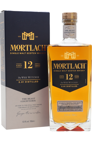 Mortlach 12 Year Old The Wee Witchie Speyside Single Malt Scotch Whisky Distillery Bottling 70cl / 43.4%