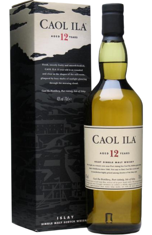 Caol Ila 12 Year Old Islay Single Malt Scotch Whisky Distillery Bottling 70cl