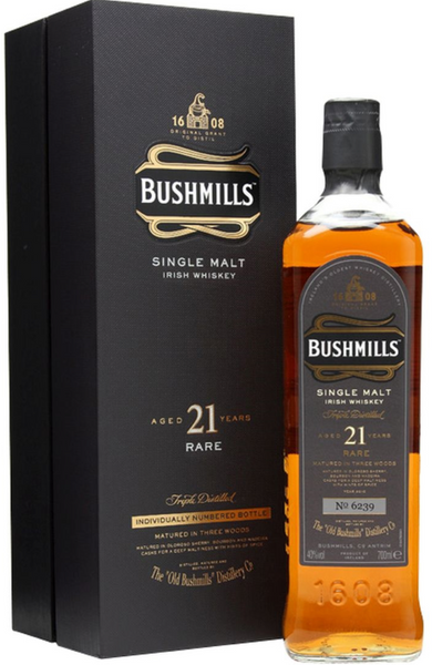 Bushmills 21 Year Old Madeira Finish Irish Single Malt Whiskey 70cl / 40%