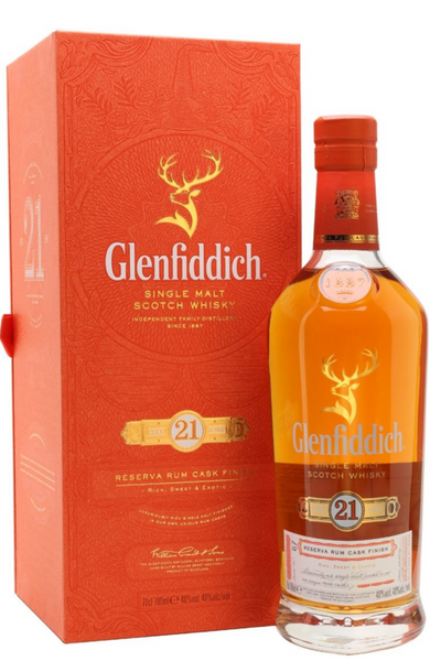 Glenfiddich 21 Year Old Reserva Rum Cask Finish 70cl / 40%