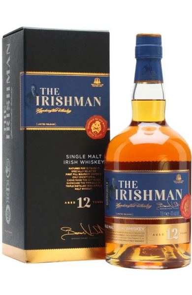 The Irishman 12 Year Old Single Malt Single Malt Irish Whiskey 70cl / 43%