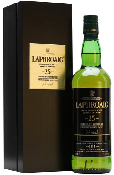 Laphroaig 25 Year Old Cask Strength Bot.2014 Islay Single Malt Scotch Whisky Distillery Bottling 70cl / 45.1%