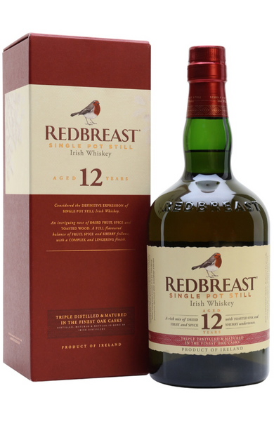 Redbreast 12 Year Old Single Pot Still Irish Whiskey | RedBreast Whisky Malta