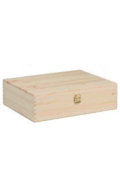 Wooden Wine Box x 3 Bottle