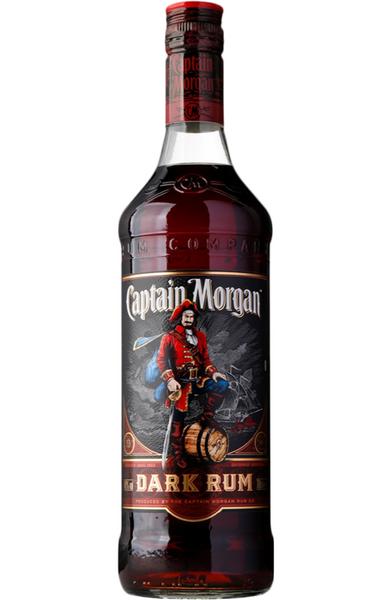 Captain Morgan Black Label Dark Rum, 1LTR Malta Spirits Malta | Rum Malta