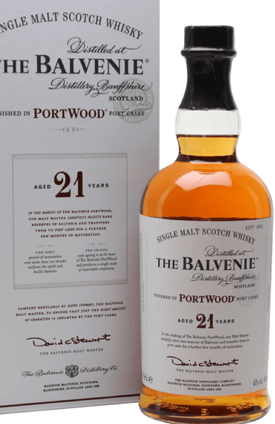 Balvenie 21 Year Old Port Wood 70cl / 40% - Spades Wines & Spirits | Balvenie Malta