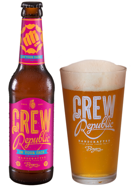 Crew Republic - In your Face WEST COAST IPA Alc. 6,8% vol. 33cl - Spades Wines & Spirits | Crew Republic Malta | Craft beer | Buy Craft beer Malta | Beer