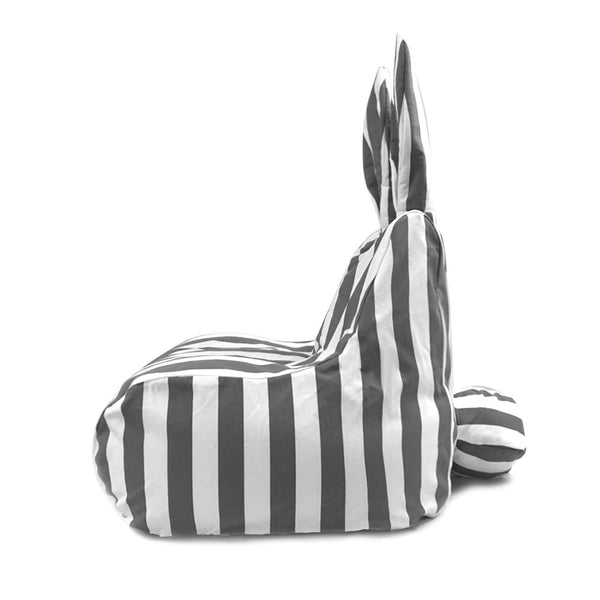 Rabito Small Bean Bag Limited Edition (Grey Stripes) - The Rabito Shop