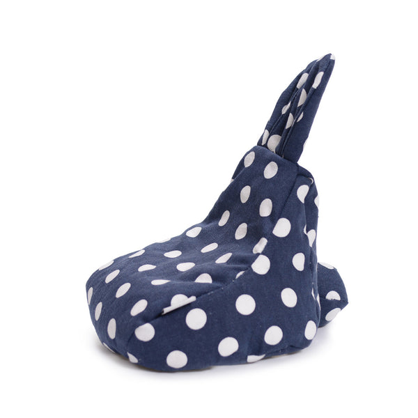 Rabito Tiny Beanbag Navy White Polka - The Rabito Shop